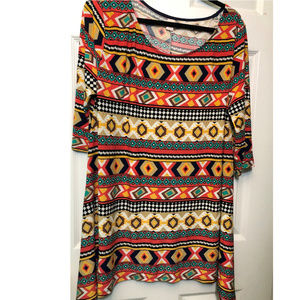 Tops - MINX Tunic / Multicolored 3X
